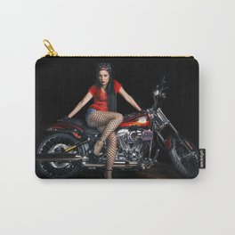 Biker Pin-Up Girl Carry-All Pouch