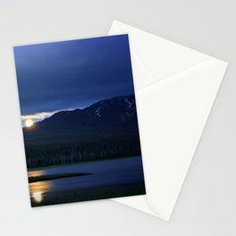 Strawberry Moon Over Sparks Lake - Oregon Landscape Stationery Cards