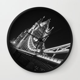 Tower Bridge at Night Wall Clock