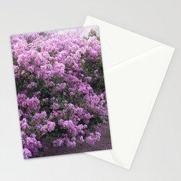 Purple Lavender Blossom Tree Stationery Cards