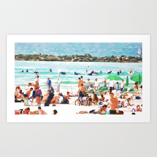 sea-shore Art Print