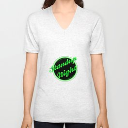 Standup Night Florescent Light Unisex V-Neck