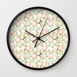 Mint & Gold - dul Wall Clock