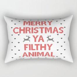 Merry Christmas Ya Filthy Animal Rectangular Pillow