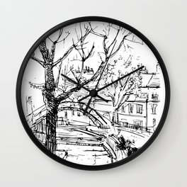 Sketches from Paris 06 Wall Clock