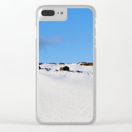 plowed brown soil Clear iPhone Case