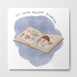 Mushy Stories / Mushroom Book Metal Print
