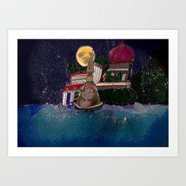 Full Moon Castle Art Print