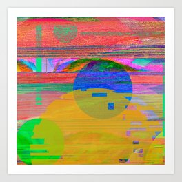 Abstract Glitch001 Art Print