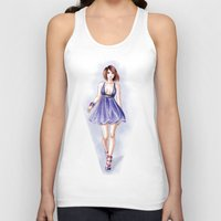fashion illustration Tank Tops featuring Fashion illustration by Tania Santos