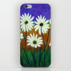 White daisies-Abstract iPhone & iPod Skin