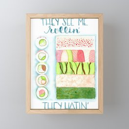 They see me rollin Framed Mini Art Print