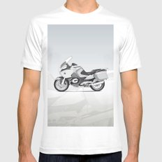 RT-1200 (Dad's Ride) MEDIUM White Mens Fitted Tee