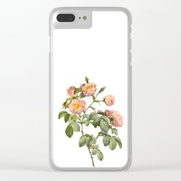 Vintage Pink Roses [03] Clear iPhone Case