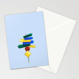Direction Sign Stationery Cards