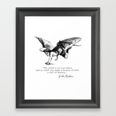 Heaven and Hell Framed Art Print