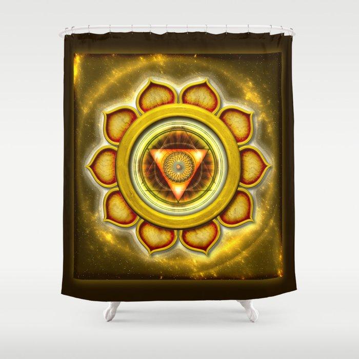 "Manipura Chakra - Solar Plexus Chakra Series ""Open Chakra"" Shower Curtain"