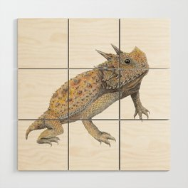 Horned Lizard Wood Wall Art