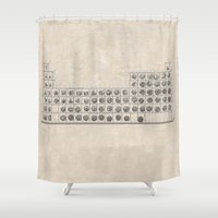 periodic table Shower Curtains featuring Periodic table by Florian Pasquier