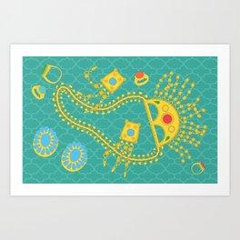 Emirati Jewellery Art Print