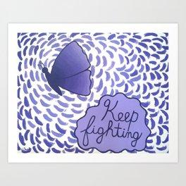 Keep Fighting (Acrylic) Art Print
