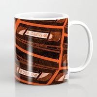 return Mugs featuring Return by Gimetzco's Damaged Goods