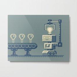 Bright robot Metal Print