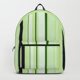Black Light Blue and Shades of Green Stripes Backpack