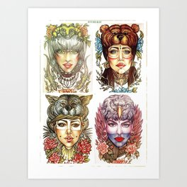 Beauties and the Beasts Art Print