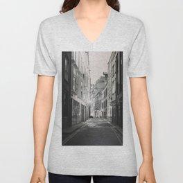 Soho London Black and white Unisex V-Neck
