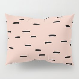 Peach dash abstract stripes pattern Pillow Sham