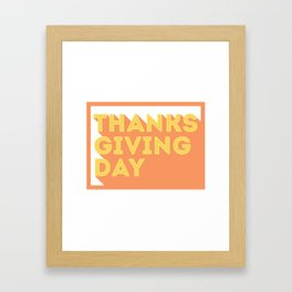 Happy Thanksgiving Day Design Framed Art Print