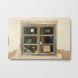 Window in a Building Metal Print