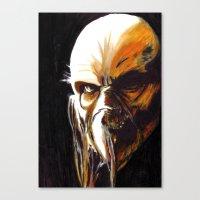 satan Canvas Prints featuring Dr. Satan by Zombie Rust