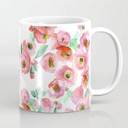 Floral Print Pink Chaenomeles Coffee Mug