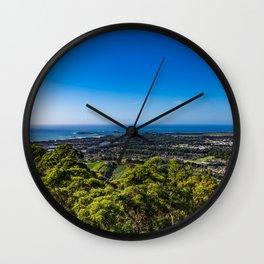 Ocean View Over Coffs Harbour Wall Clock
