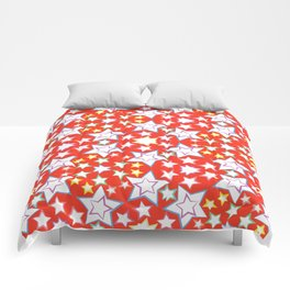 seamless pattern with stars Comforters