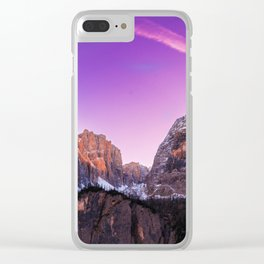 Velvet mountains Clear iPhone Case