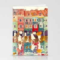 takmaj Stationery Cards featuring Evening in Poznań by takmaj