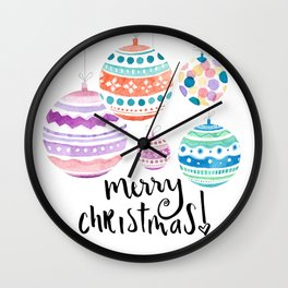 Christmas Ornament Wall Clock