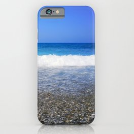 Blue Ocean, Water Surface and Blue Sky iPhone Case