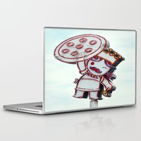 pizza Laptop & iPad Skins featuring pizza by elizabethaknee