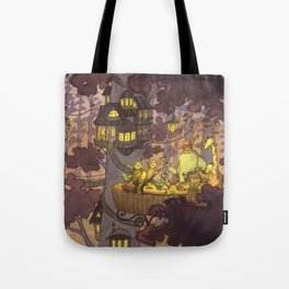 Treehouse Dinner With Animal Friends Tote Bag