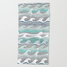 waves Beach Towel