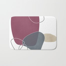 Abstract Glimpses in Mulberry and Peninsula Blue Bath Mat