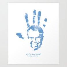 Nixon The Hand Art Print