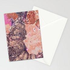 pink dark nature Stationery Cards