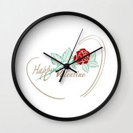 Rose Valentine Wall Clock