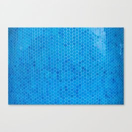 Turquoise Blue Sequins Canvas Print