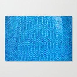 Turquoise Blue Sequins Canvas Print
